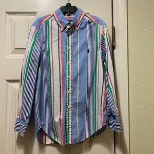 Boys Ralph Lauren button-down Shirt size 8